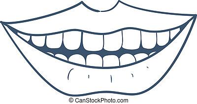 微笑, mouth.