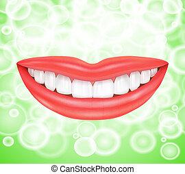 微笑, smile., 唇