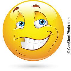 微笑, smiley, 特徴, 歯, 顔