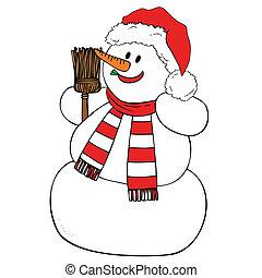 微笑, snowman.