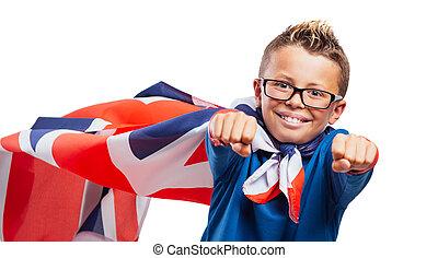 微笑, superhero, イギリス