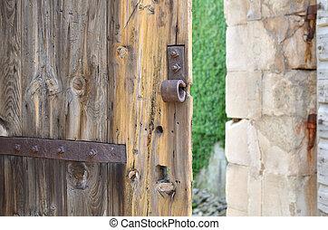 微開, 老, 城堡, 門
