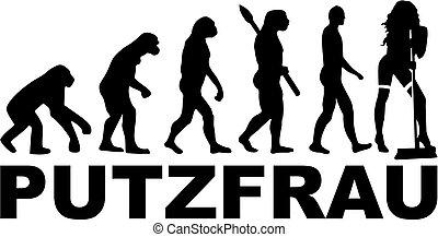 德语, 进化, 女士, 打扫, 热
