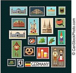 德语, 邮票