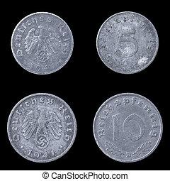 德语, obverse, 硬币。, 反面, 二