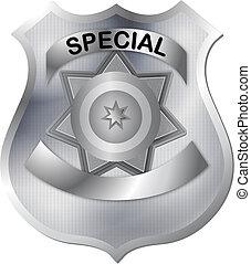 徽章, 在, 灰色, 銀, 顏色, 音調, wi