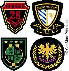 徽章, 裝置設計