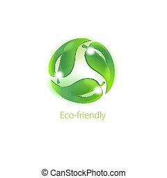 心づかい, シンボル, environment., eco 友好的