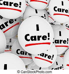 心づかい, 有用, 人々, ボタン, 同情的である, 言葉, ボランティア, 労働者, 心配