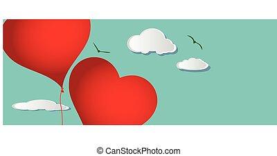 心の形をしている, 飛行, 風船