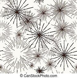 心不在焉地亂寫亂畫, 摘要, seamless, 星, 圖案