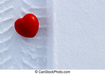 心形狀, 愛, 雪