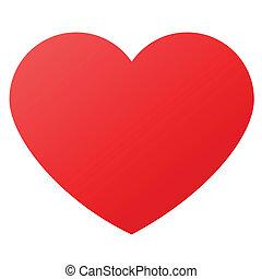 心形狀, 為, 愛, 符號