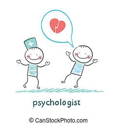 心理学者, 話す, 愛, 患者, 聞くこと