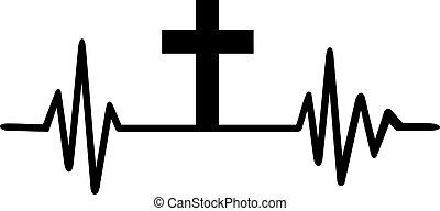 心臓の鼓動, 線, 交差点, イエス・キリスト