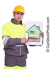 心配した, 建設, 労働者