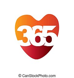心配, アイコン, ロゴ, 愛, 無限点, デザイン, イラスト, 365, ベクトル