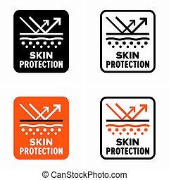 心配, 外部である, 皮膚, 要因, 保護, 情報 印