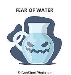 心配, hydrophobia., 水, 社会, 恐れ, ∥あるいは∥