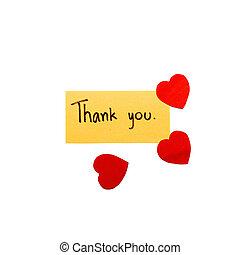 心, あなた, 感謝しなさい, カード
