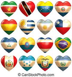 心, アメリカの南