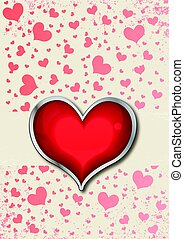 心, カード, バレンタイン