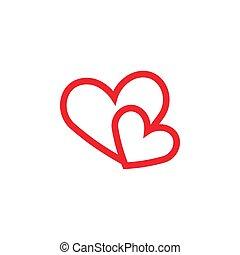 心, グラフィック, テンプレート, 愛, デザイン, ベクトル
