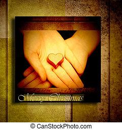 心, グリーティングカード, クリスマス, チョコレート