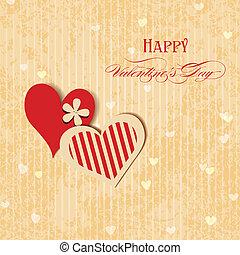 心, グリーティングカード, バレンタイン