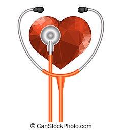 心, シンボル, 聴診器