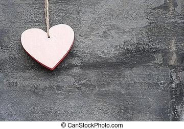 心, スタイル, 愛, バレンタイン, 無作法, 背景, 日