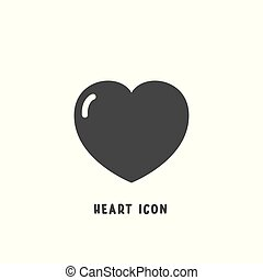 心, スタイル, illustration., 平ら, 単純である, ベクトル, アイコン