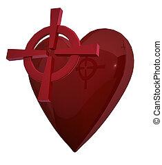 心, ターゲット, 赤