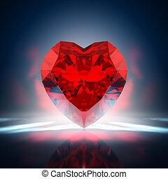 心, ダイヤモンド