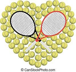 心, テニス