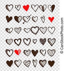 心, デザインを設定しなさい, あなたの, バレンタイン
