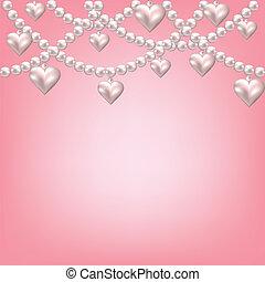 心, ネックレス, 真珠