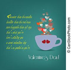 心, バレンタインカード, カップ