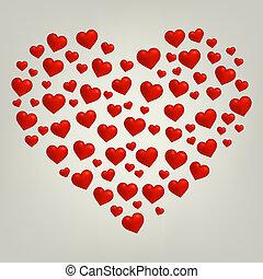 心, バレンタインデー, カード