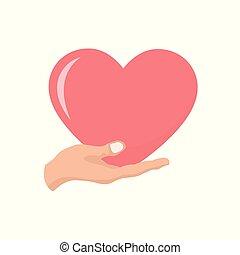 心, バレンタイン, カードの手