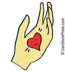 心, バレンタイン, 手