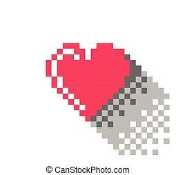 心, ピクセル