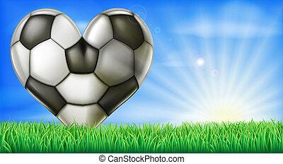 心, フットボールボール, 形づくられた