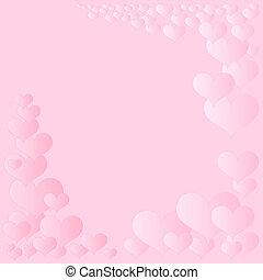 心, フレーム, ピンク