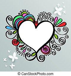 心, フレーム, valentine., 結婚式