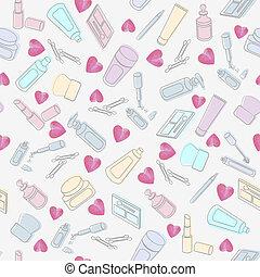 心, プロダクト, 化粧品, 美しさ