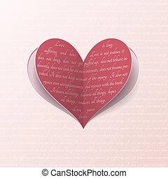心, ペーパー, グリーティングカード