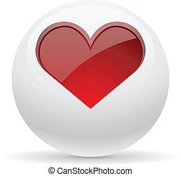 心, ボタン