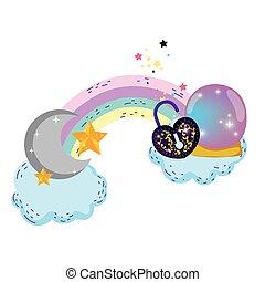 心, ボール, ナンキン錠, fairytale, 水晶, 形