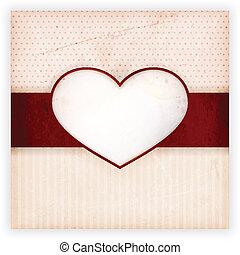 心, ラベル, カード, 招待, 型